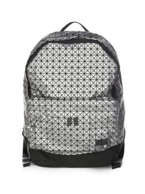 BAO BAO ISSEY MIYAKE Geometric Backpack in Grey