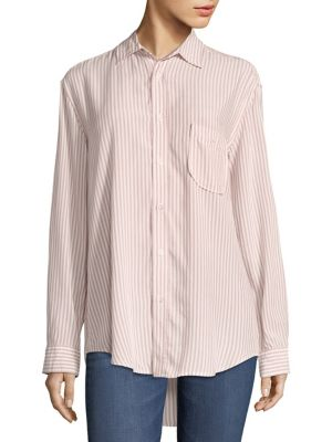 Striped Button Down Shirt by 7 For All Mankind