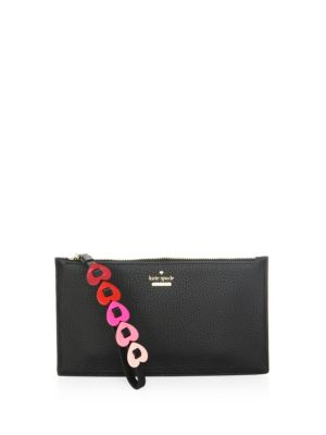 Kate Spade  Yours Truly Ariah Heart Pebbled Leather Wristlet