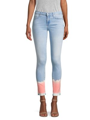 Skinny Cropped Jeans by 7 For All Mankind