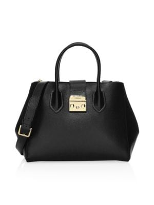 Medium Metropolis Leather Tote by Furla