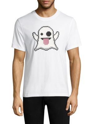 "Image of Effortless tee with iconic emoji ghost graphic. Crewneck. Short sleeves. Pullover style. About 27"" from shoulder to hem. Cotton. Machine wash. Imported."