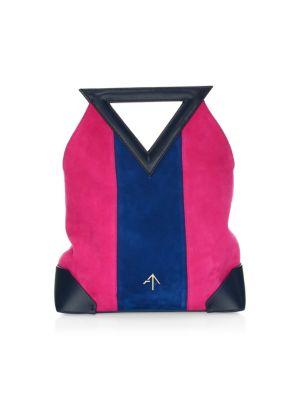 Triangle North Suede & Leather Mini Bag in Multi