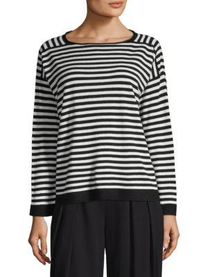 Eileen Fisher  Cashmere Stripe Sweater