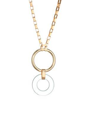 Ettika Lucite Disc Pendant Necklace