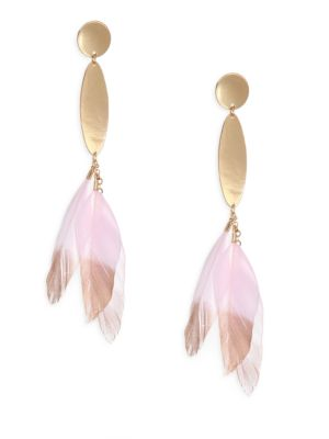 Ettika  Feather Drop Earrings