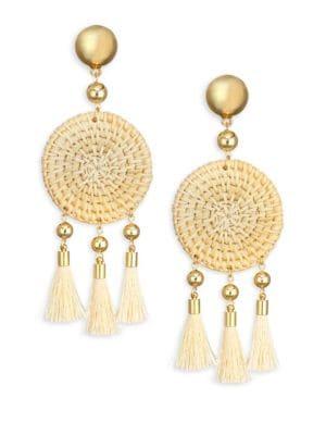 Ettika Natural Tassel Earrings