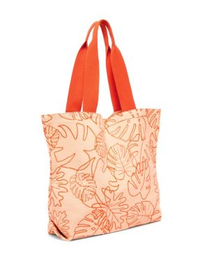 "Image of Canvas tote with a gusseted base, cinched handles for maximum comfort, and a convenient interior pocket. Double top handles. Open top. One interior pocket.19""W X 15""H.Cotton. Imported."