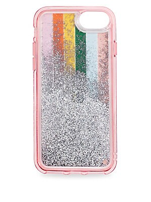 "Image of Colorwheel iphone case features tons of floating glitter iPhone 6 plus, 7 plus, or 8 plus 4.75""W x 8.875""H x 0.75""D Imported. Gifts - Books And Music > Saks Fifth Avenue. ban. do."