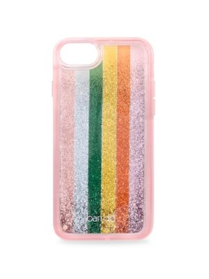 "Image of Colorwheel iphone case features tons of floating glitter. iPhone 6, 6s, 7 or 8.7.75"" x 4.25"" x 0.75"".Imported."