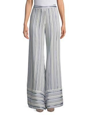 Striped Maeva Pants, Amalfi Blue