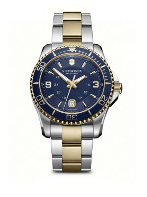 VICTORINOX SWISS ARMY Maverick Two-Tone Stainless Steel Watch in Blue