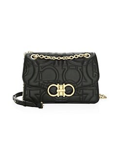 cee836cc86f1 QUICK VIEW. Salvatore Ferragamo. Large Quilted Flap Leather Crossbody Bag