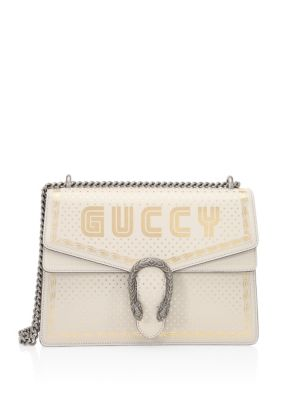 060d458576 Gucci Guccy Print Borsa Dionysus Shoulder Bag In Sega® Font In White