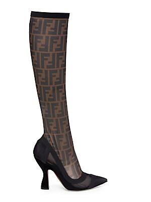 760ac6f68ebf Fendi - Logo Sock Boots - saks.com