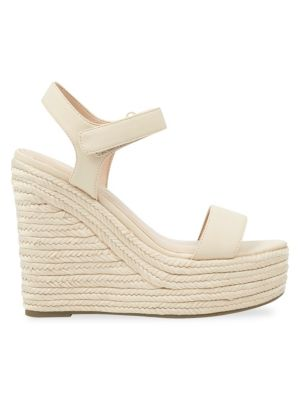 Kendall And Kylie Women'S Grand Platform Wedge Espadrille Sandals, Natural