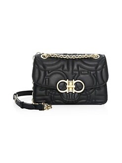 Medium Quilted Leather Flap Shoulder Bag BLACK. QUICK VIEW. Product image.  QUICK VIEW. Salvatore Ferragamo 03525603ae