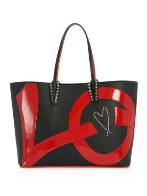 Cabata Love Embellished Leather Tote - Black, Multi