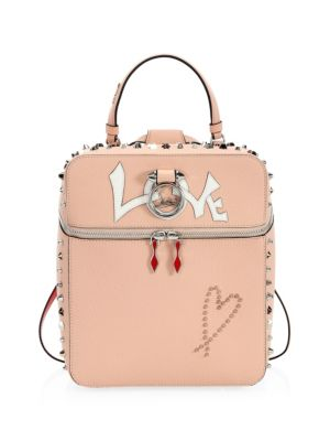 Rubylou Love Leather Backpack - Pink, Soie/ Latte/ Multi Metal