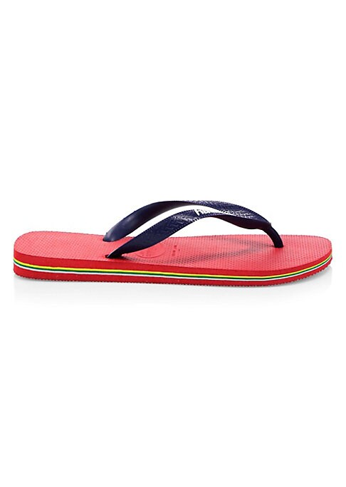 Image of .Casual thong style in vibrant colors. .Rubber upper. .Thong style. .Rubber lining and sole. .Imported. .