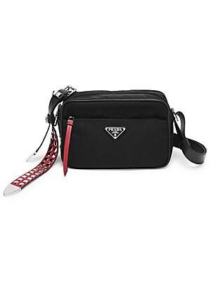 9803ff7712d5 Prada - Prada Black Nylon Shoulder Bag with Studding