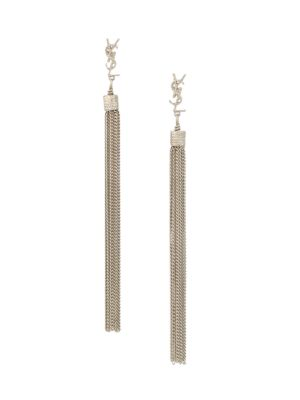 Loulou Chain Tassel Earrings by Saint Laurent
