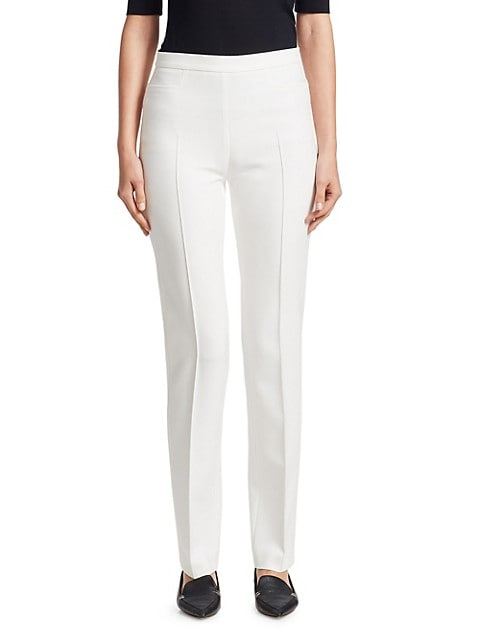 Francoise Stretch Straight-Leg Pants