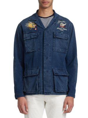 Indigo Ripstop Airborne Jacket by Polo Ralph Lauren