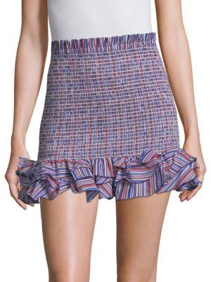 Barrett Smocked Mini Skirt in Festival