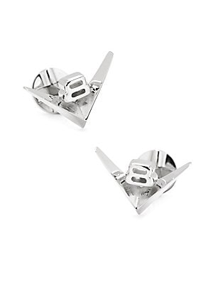 "Image of Essential cufflinks in the shape of a miniature V8 1""W x 0.5""L Metal Imported. Men Accessories - Jewelry. Cufflinks, Inc. Color: Silver."