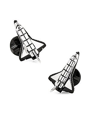Image of Complete your attire with these space-themed links Metal Fixed backing Imported. Men Accessories - Jewelry. Cufflinks, Inc. Color: Silver.