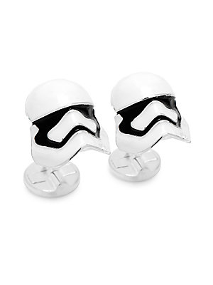 "Image of Essential cufflinks with Star Wars-inspired design 0.75""W x 0.5""L Metal Imported. Men Accessories - Jewelry. Cufflinks, Inc. Color: White."
