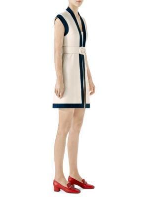 Viscose Jersey Dress With Gg Belt in Neutrals
