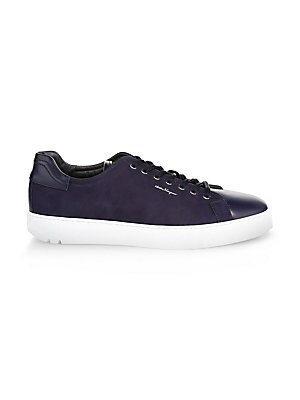 Salvatore FerragamoVernice Leather Low-Top Sneakers Y8l7Sa