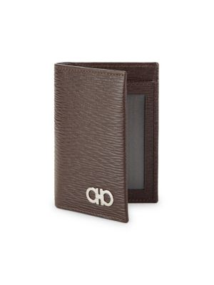 Salvatore Ferragamo Men S Revival Bi-Fold Lizard-Embossed Leather Card Case  In Tobacco 661c3446f06a8