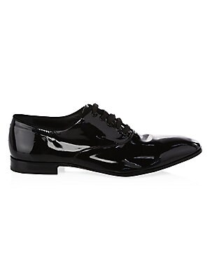 8aa7b59bab Salvatore Ferragamo - Patent Leather Lace-Up Oxford Shoes - saks.com