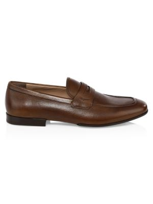 Leather Penny Loafers by Salvatore Ferragamo