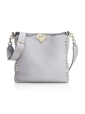 Rockstud Grained Leather Small Hobo Bag by Valentino Garavani
