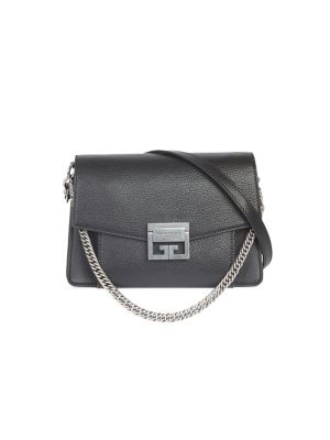 GIVENCHY Gv3 Small Pebbled Leather Crossbody Bag, Black