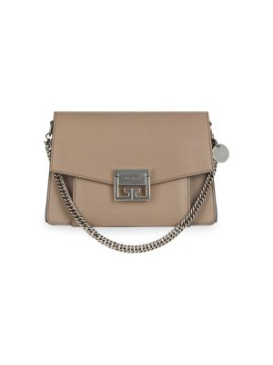 Small Gv3 Leather Crossbody Bag - Beige in Brown