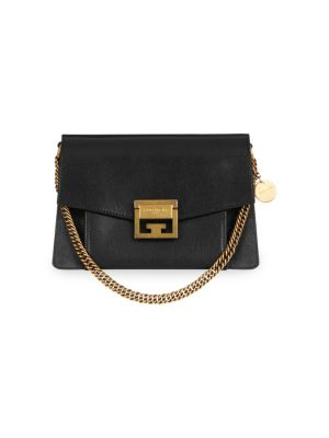 Small Gv3 Leather & Suede Crossbody Bag - Black in 002 Black/H