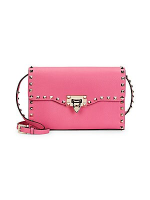 5fc613aa23 Valentino Garavani - Rockstud Medium Leather Crossbody Bag - saks.com