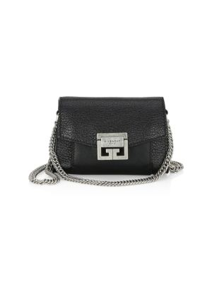 Nano Gv3 Leather Crossbody Bag - Black