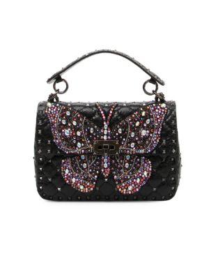 Valentino  Rockstud Butterfly Shoulder Bag