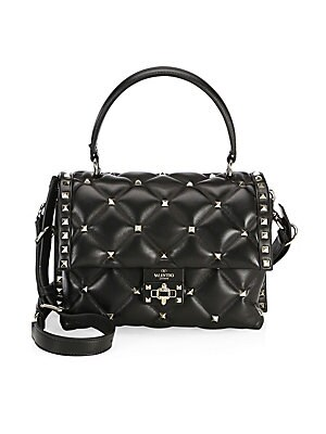 5c6cbff7aa5 Valentino Garavani - Candystud Leather Top Handle Bag - saks.com