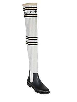 2c210d18be03 Givenchy - Storm Knit Rain Boots - saks.com