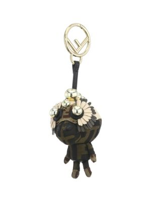 Space Monkey Bag Charm - Brown, Tobacco