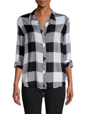 Bella Dahl Checked Button-Front Shirt