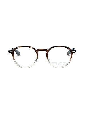 Image of 48mm lens width; 22mm bridge width; 148mm temple length Clear lenses Zyl/titanium Made in Japan. Men Accessories - Men Sunglasses. Barton Perreira.