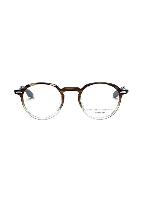 Image of 48mm lens width; 22mm bridge width; 148mm temple length. Clear lenses. Zyl/titanium. Made in Japan.